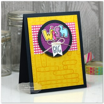 Wish Big, handmade card by Jen Shults