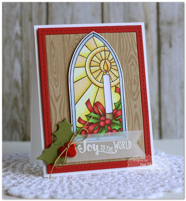 Joy to the World by Jen Shults, handmade Christmas card