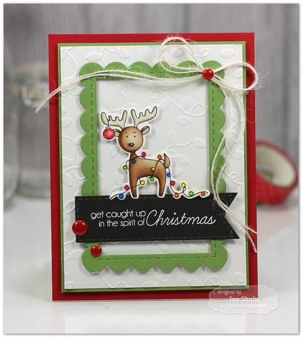 Spirit of Christmas by Jen Shults, handmade card