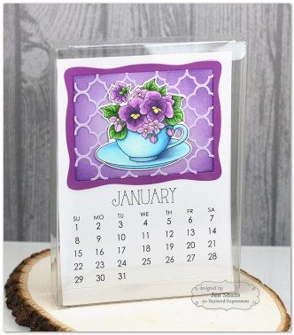 Flower Bouquet 5x7 Calendar by Jen Shults