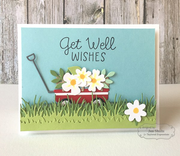 Get Well Wishes by Jen Shults   deconstructingjen.com   handmade card   stamps and dies from Taylored Expressions