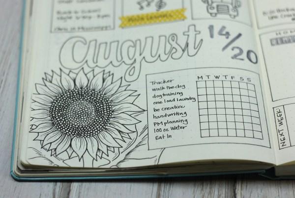 August Bullet Journal Weekly by Jen Shults