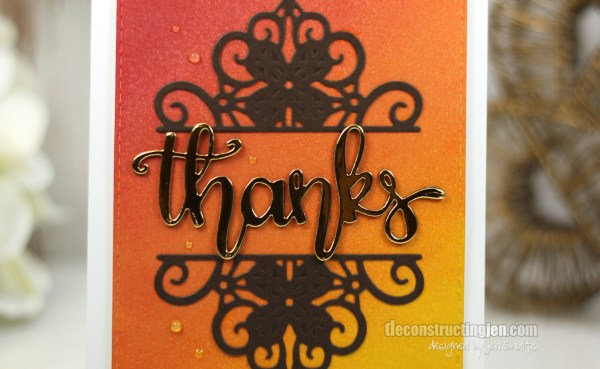 Thanks by Jen Shults, CardMaker and Spellbinders Blog Hop