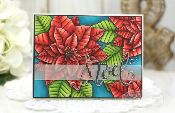 Noel, handmade card by Jen Shults