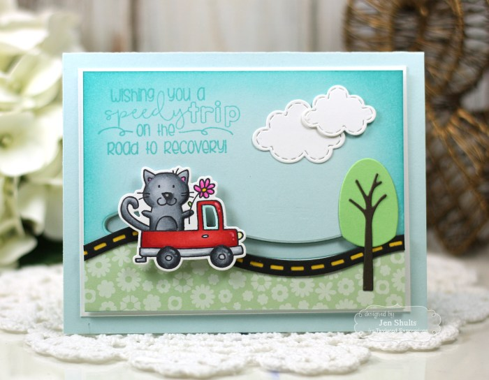 Road to Recovery, handmade card by Jen Shults