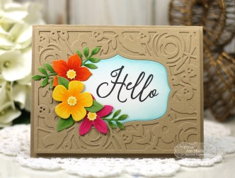 Hello by Jen Shults, handmade card using stamps and dies from Taylored Expressions