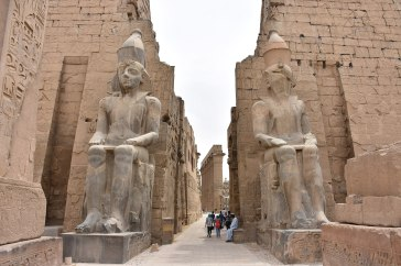 Karnak Temple ... The photo is taken from ... https://commons.wikimedia.org/wiki/File:Entrance_to_Luxor_Temple,_Egypt.JPG