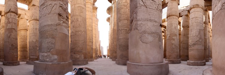 Karnak Temple ... The photo is taken from ... https://commons.wikimedia.org/wiki/File:Karnakpanorama.jpg