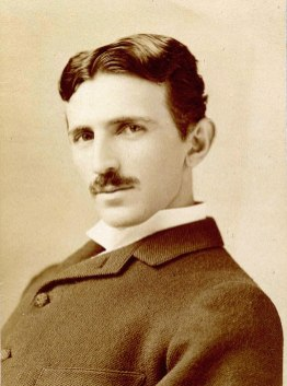Nikola Tesla around 1893. ... aged 37 ... Photo ... Napoleaon Sharony ... Taken from ... https://simple.wikipedia.org/wiki/Nikola_Tesla#/media/File:Tesla_Sarony.jpg