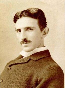 Nikola Tesla around 1893. ... aged 37 ... Photo ... Napoleaon Sharony ... Taken from ... https://simple.wikipedia.org/wiki/Nikola_Tesla#/media/File:Tesla_Sarony.jpg