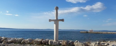 Memorial Sword of King Arthur, Podstrana, Croatia. Photo with permission taken from Pointers, the free personal travel guide and the website for the promotion of tourism ... https://pointerstravel.com/poi/1516 ...