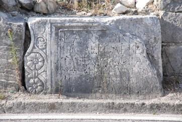 Stone slab with inscription, part of the sarcofagus of Lucius Artorius Castus, Podstrana, Croatia. Photo credit ... https://www.petrus.sk/ ...