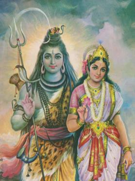 God Shiva and Goddess Parvati. An imagination of the artist. The photo is taken from ... https://www.larutadelsorigens.cat/wkey/lord-shiva-parvati-wallpaper/