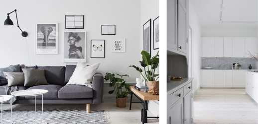 gris blanco casa sobria decorada