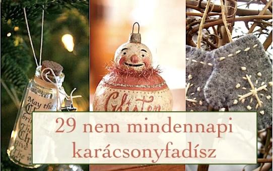 29 nem mindennapi karácsonyfadísz