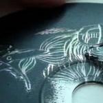 Egyedi grafikák - Scratch Mirror Art