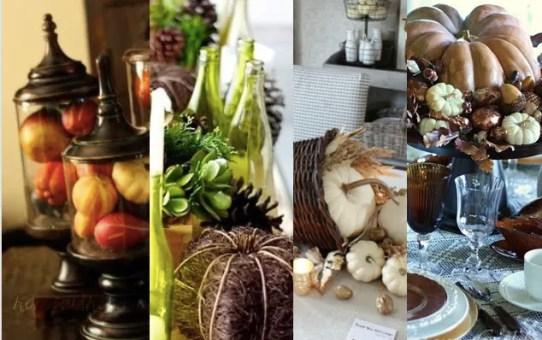 81 őszi dekorációs ötlet – asztaldísz