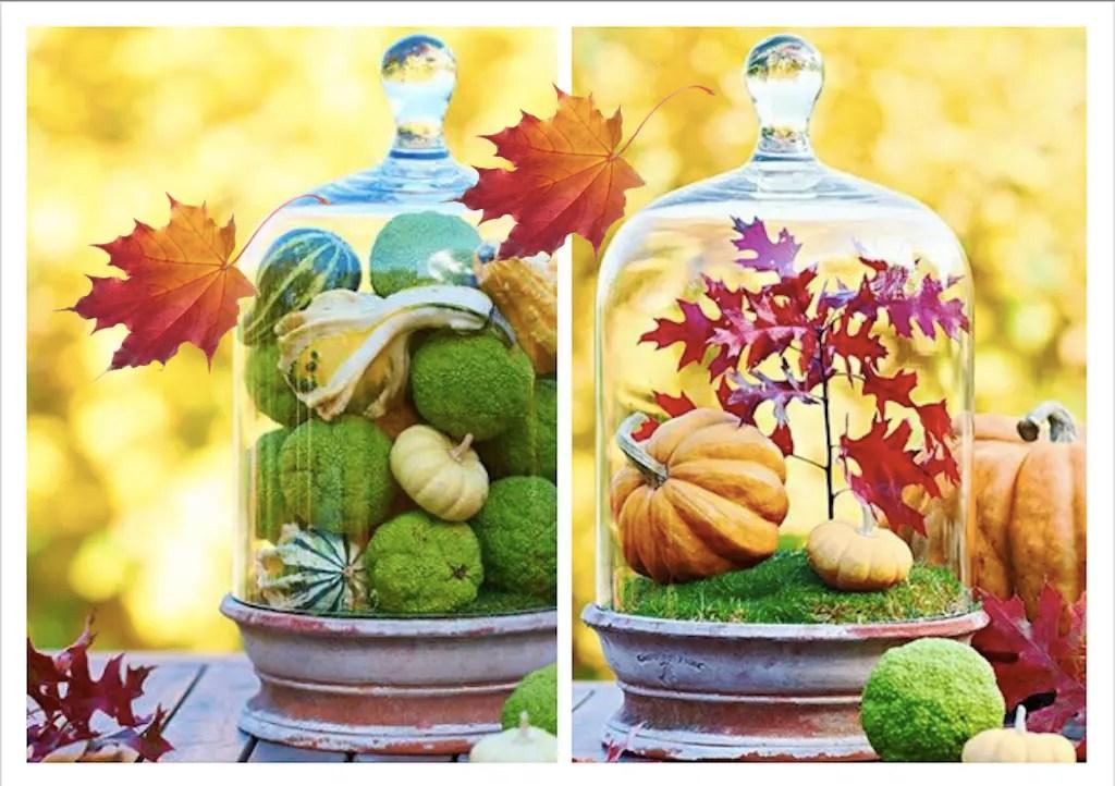28 őszi dekorációs ötlet – üveg harang