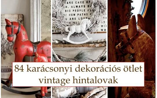 84 karácsonyi dekorációs ötlet – vintage hintalovak