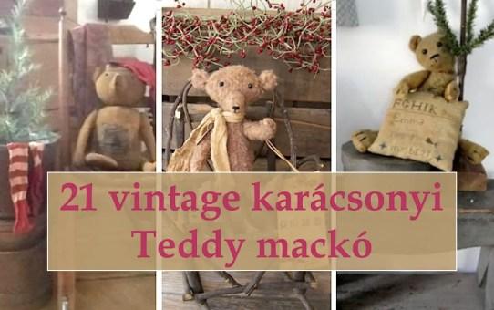 21 vintage karácsonyi Teddy mackó