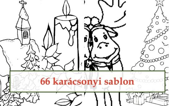 66 karácsonyi sablon
