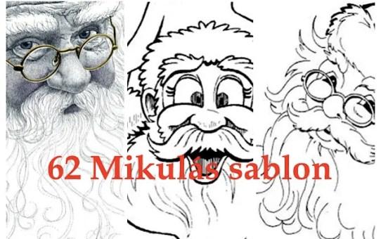 62 Mikulás sablon