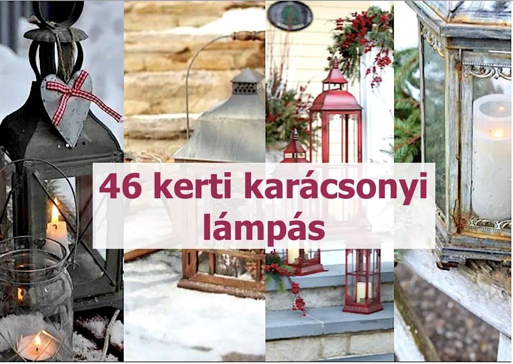 46 kerti karácsonyi lámpás