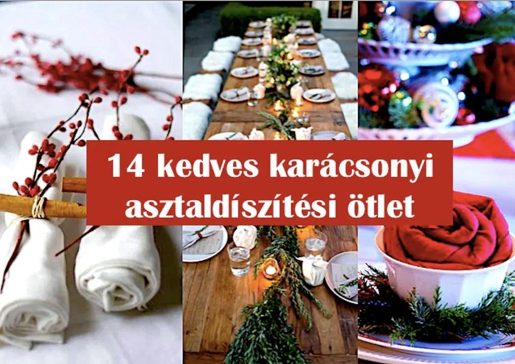 14 kedves karácsonyi asztaldíszítési ötlet