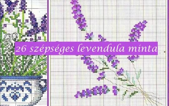26 szépséges levendula minta