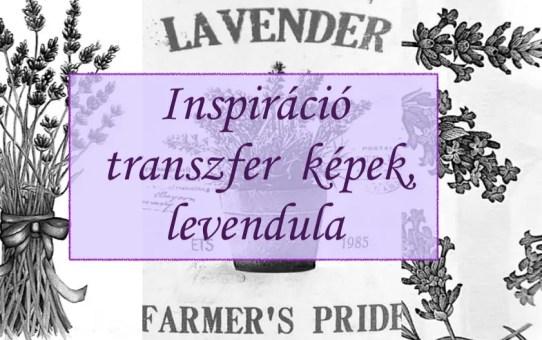 Inspiráció - transzfer képek, levendula
