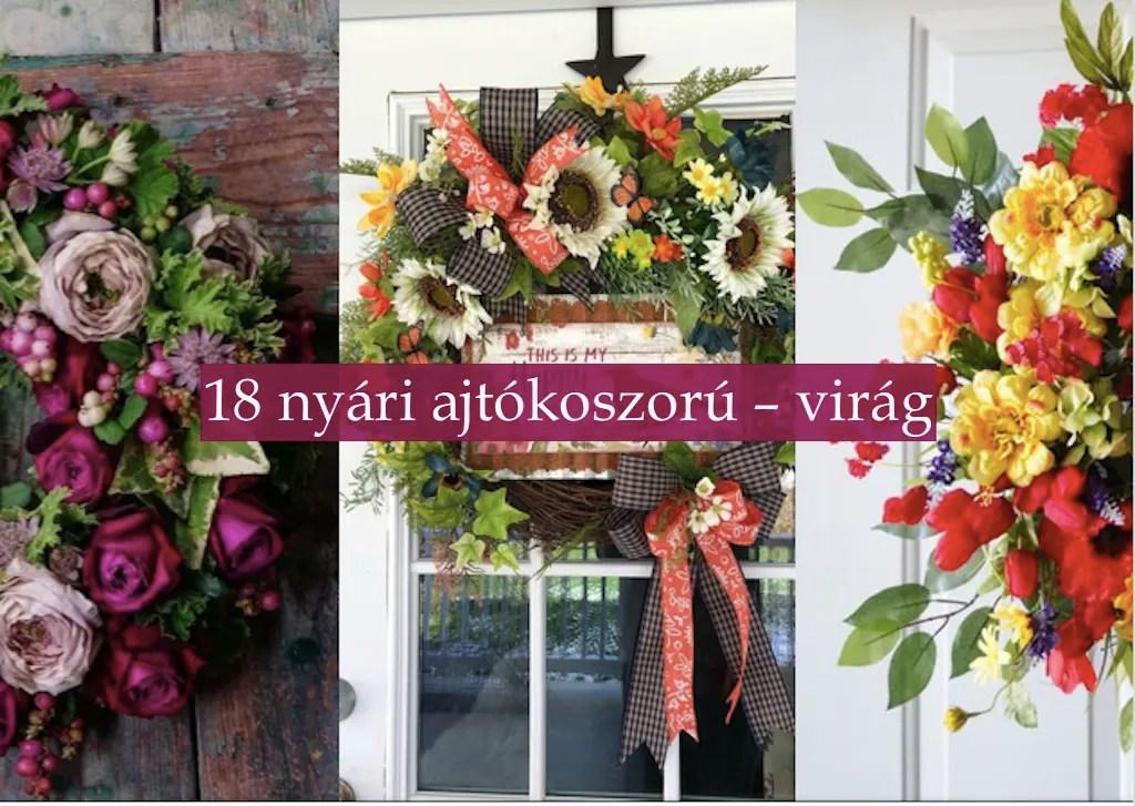 18 nyári ajtókoszorú – virág
