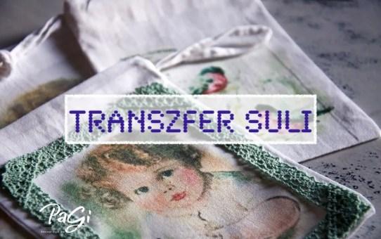 Transzfer suli - színes transzfer - oldattal