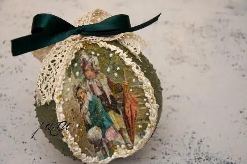 DIY - Nosztalgia karácsonyi gömb - MiniMaLista 17