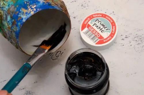 Merlin kelyhe pattina és rozsda effektel DIY