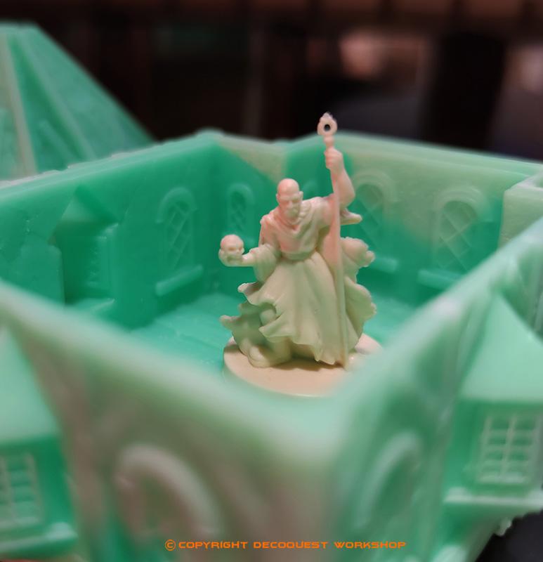 Bâtiment décors en résine pour le jeu de figurines