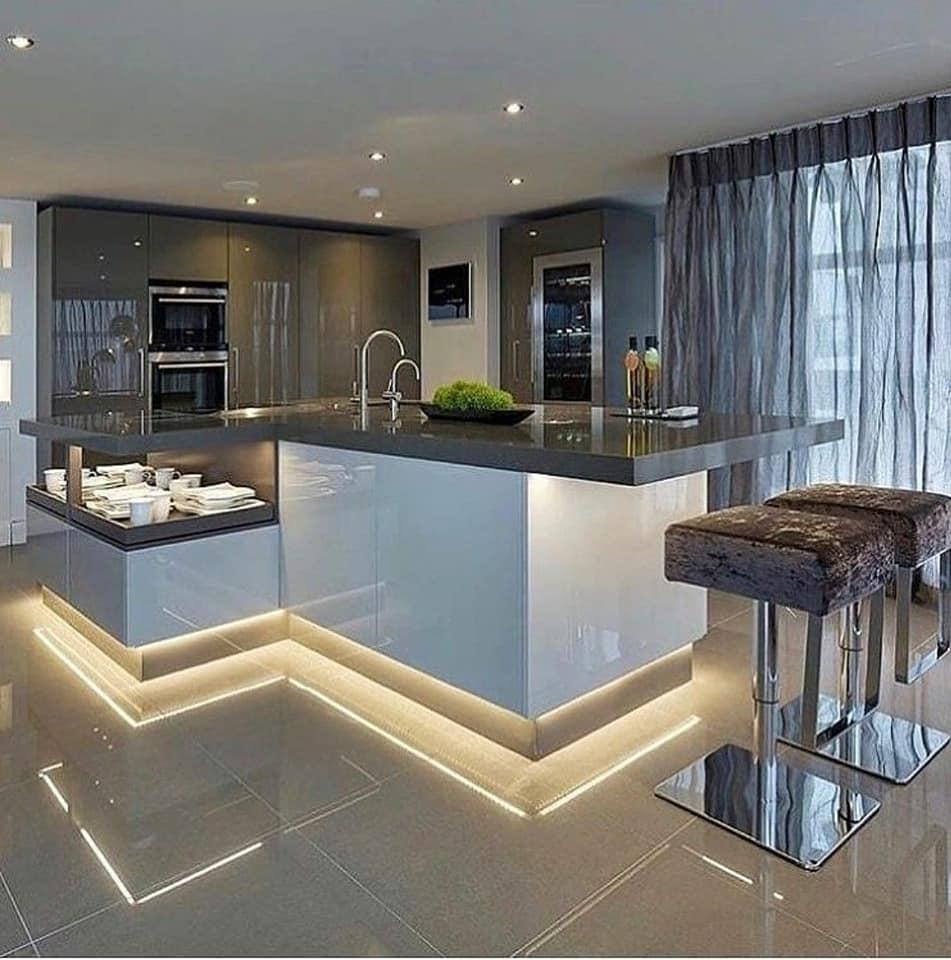 6 x Modern Kitchen Island Design Ideas
