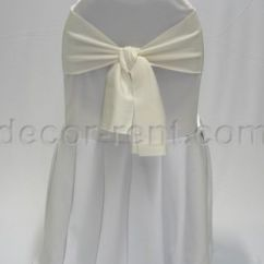 Chair Cover Rentals Durham Region Outdoor Deck Chairs Toronto Rent Banquet Covers Wedding White With Ivory Linen Sash