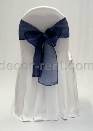 where to buy chair covers in toronto tommy bahama cover rentals rent banquet wedding white with navy organza bow