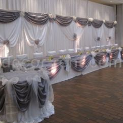 Wedding Chair Covers Toronto Heated Recliner Decor-rent.com - Silver And White Backdrop. Toronto.