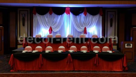 chair covers for rent toronto patio with hidden ottoman decor-rent.com - wedding backdrop decor. toronto. black, red, white.