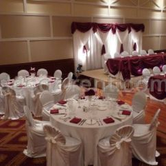 White Banquet Chair Covers Potty Chairs For Boys Decor-rent.com - Wedding Decor In Burgundy And White. Brampton. Toronto.