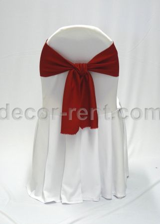 chair cover rentals durham region cost plus chairs toronto rent banquet covers wedding white with red linen sash