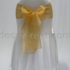 Chair Cover Rentals Durham Region Hanging Reading Decor Rent Com White Banquet With Gold Organza Bow We Offer And Linen In Toronto The Gta Oshawa Scarborough Pickering Ajax Markham Newmarket Brampton Barrie Mississauga