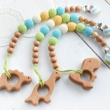 Dinosaur teething toy