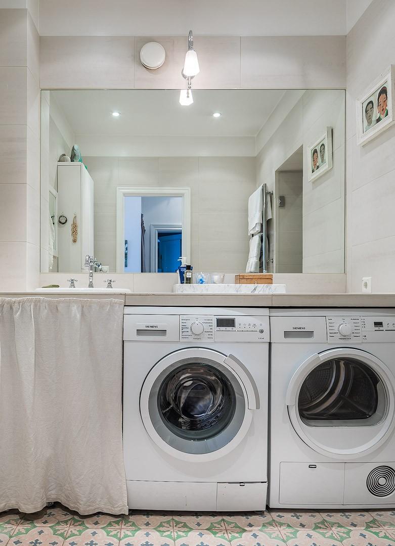 столешница с раковиной стиральная и сушильная машина