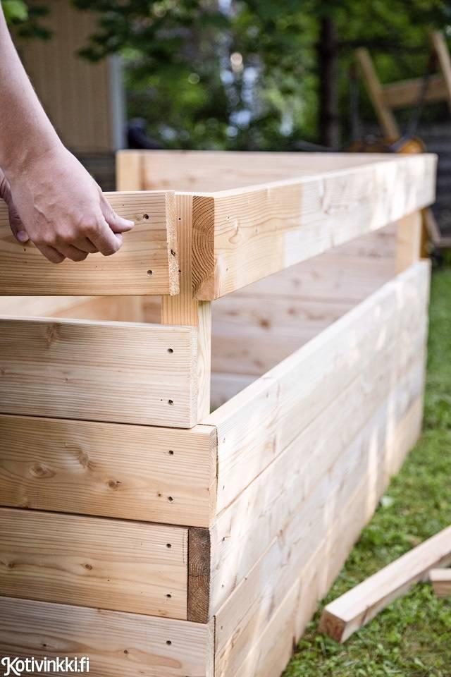 как сделать ящик для растений