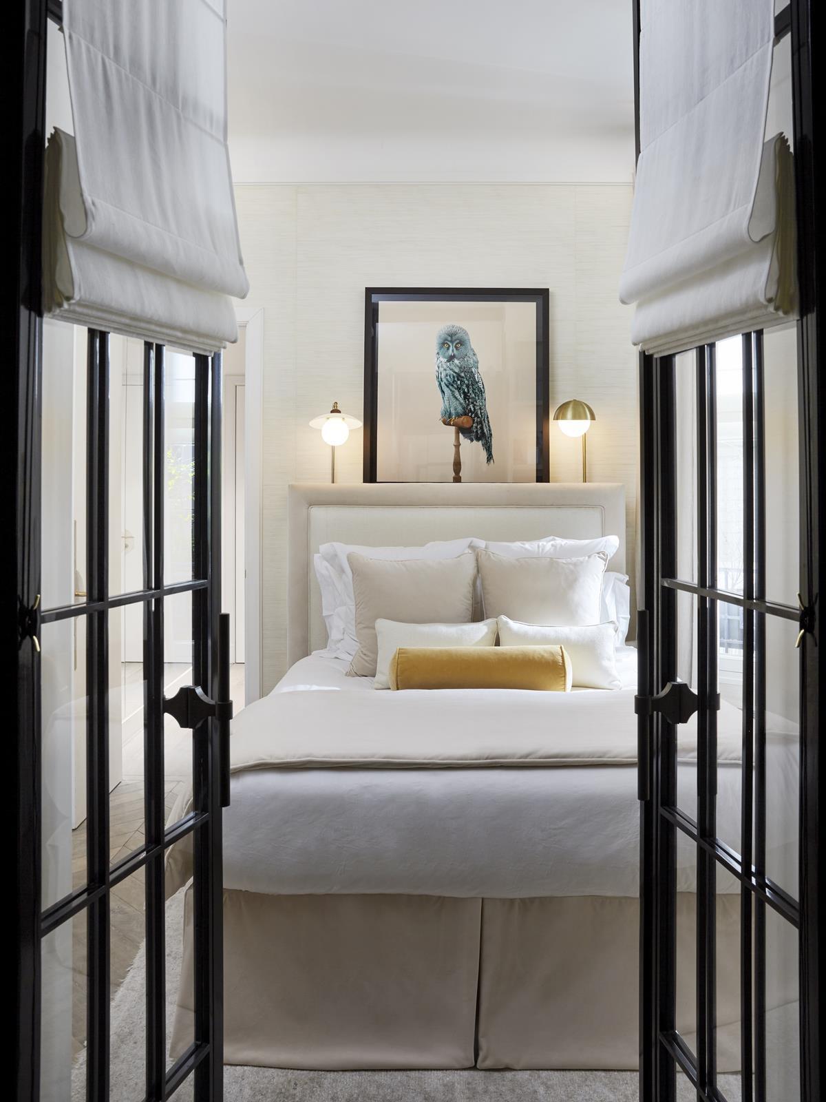 спальня сварные стеклянные двери