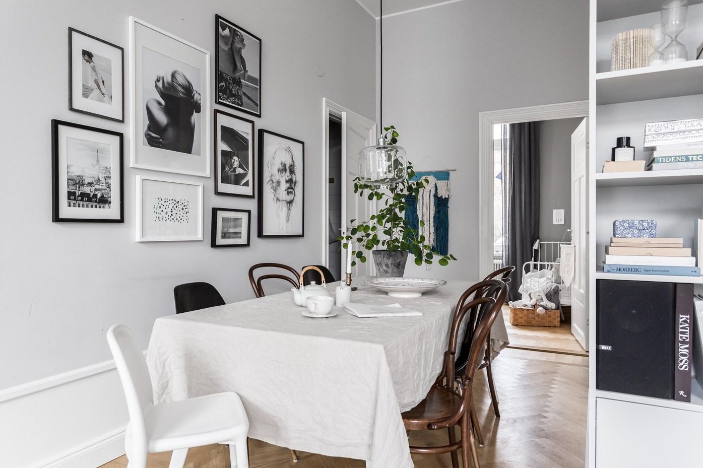 обеденный стол скатерть стулья