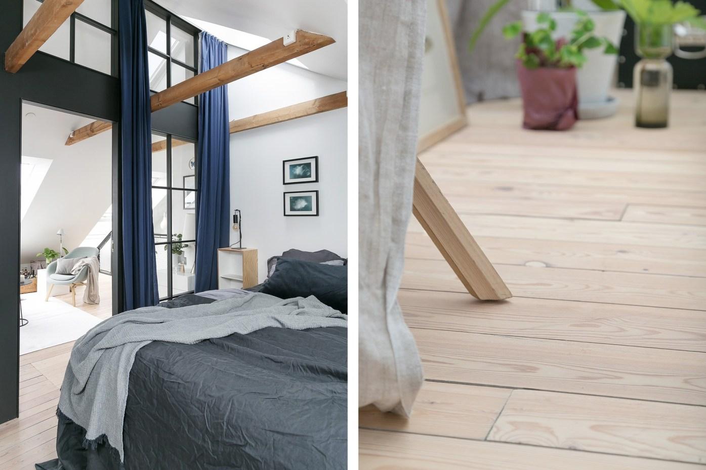 деревянный пол потолок балки