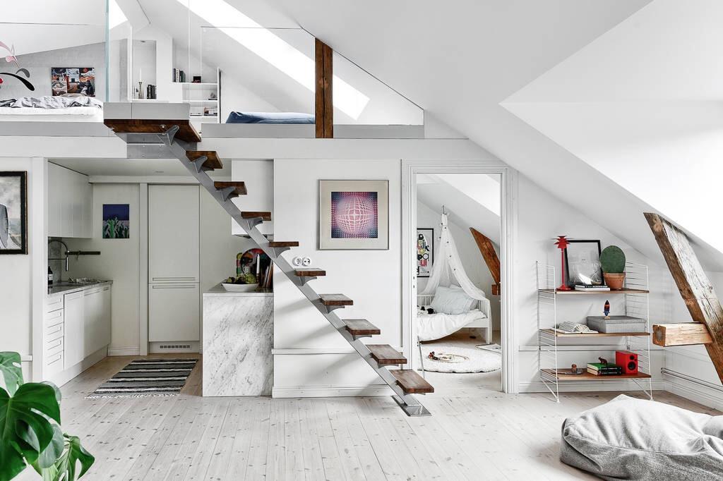 двухуровневая квартира лестница